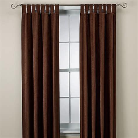 microsuede curtains microsuede window curtain panel bed bath beyond