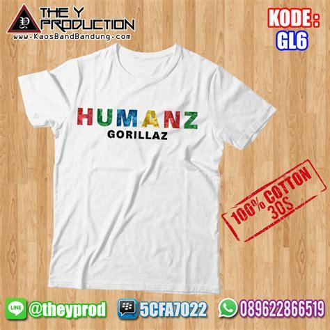 Kaos Custom Satuan kaos gorillaz gl6 kaosbandbandung