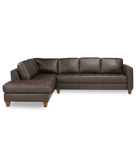 macys leather sectional sofa milano leather 2 piece chaise sectional sofa furniture