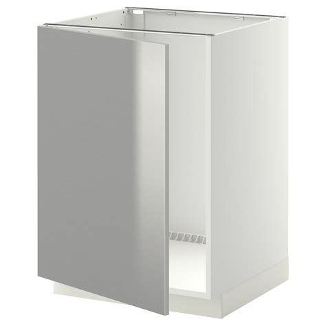 ikea vanities a stylish look using stainless steel legs metod base cabinet for sink white grevsta stainless steel