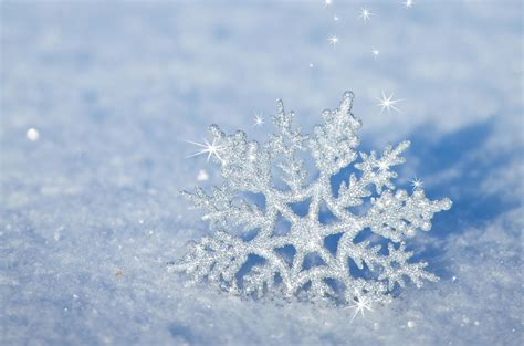 3D snowflake in the snow - HD winter wallpaper 3d Wallpaper For Winter
