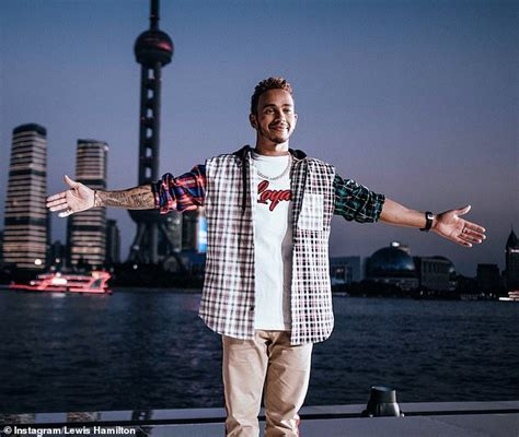 lewis hamilton shows off new lewis hamilton travels 25 000 in 10 days to promote
