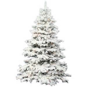 7 5 foot flocked alaskan christmas tree warm white led