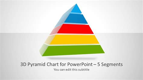 3d Pyramid Template For Powerpoint With 5 Segments Slidemodel Powerpoint Pyramid Template