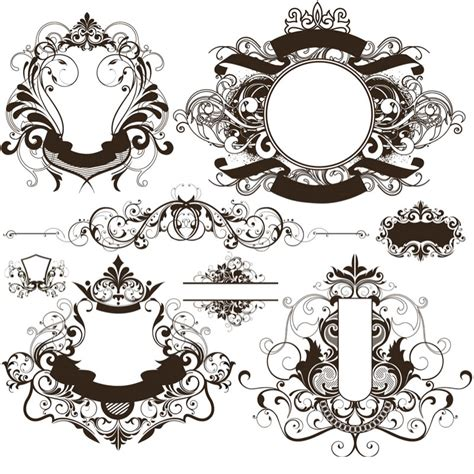 cornici illustrator vintage ornate frames vector set 3 vector graphics