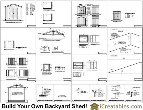 Shed Plans 10 X 8 by 10x8 Shed Plans 10 Wide By 8 Shed Plans