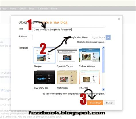 cara membuat blog keren untuk pemula cara membuat blog baru seperti facebook untuk pemula