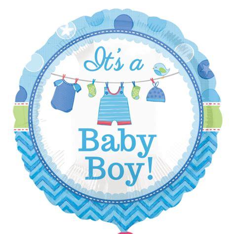 Balon Foil Baby Mini Boy clearance new baby its a boy circle mini foil balloon on