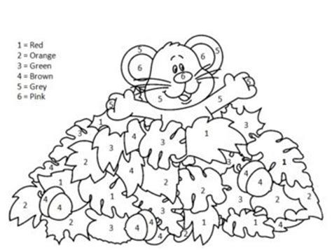 fall coloring pages color by number color by number fall picture our class room pinterest