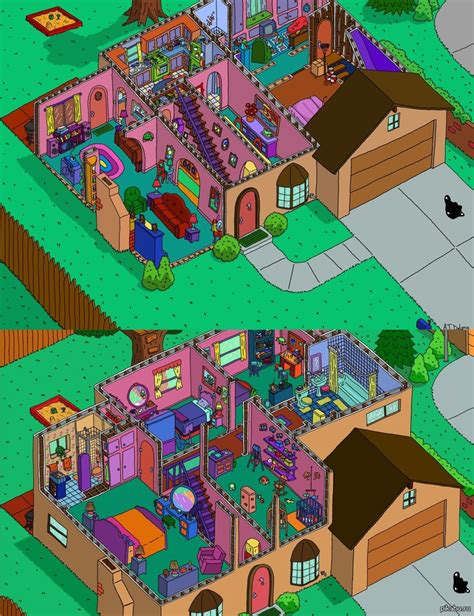 The Simpsons Floor Plan by