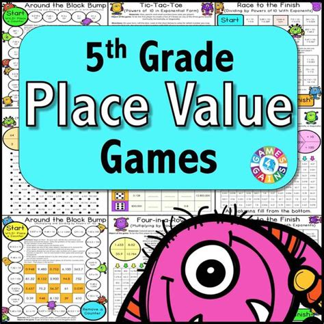 printable math games on place value place value games for 5th grade games 4 gains