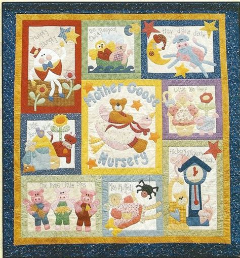 Quilt For Nursery by 10 Applique Nursery Rhyme Patterns Goose Nursery