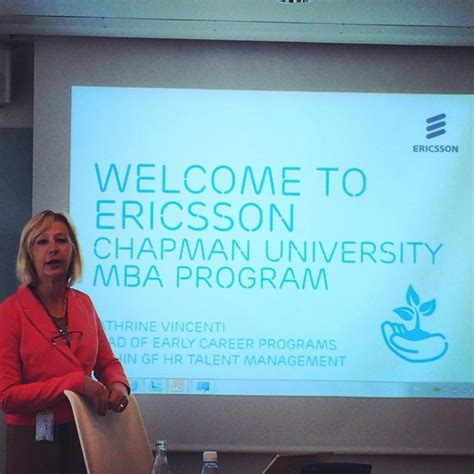 Chapman Executive Mba Program by The Visit To Ericsson Business In Scandinavia
