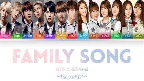 bts x gfriend bts x gfriend family song color coded lyrics han rom
