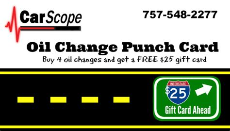 Oil Change Gift Card - oil changes carscope repair diagnosis