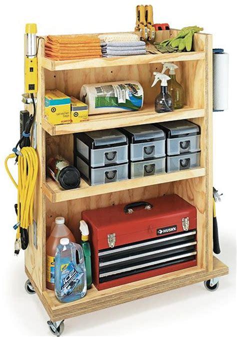 Garage Storage Cart Garage Storage Cart Woodworking Plan Bois