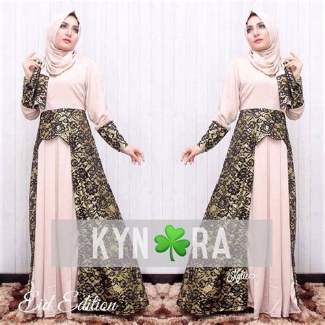 Baju By model baju gamis brokat modern by kynara