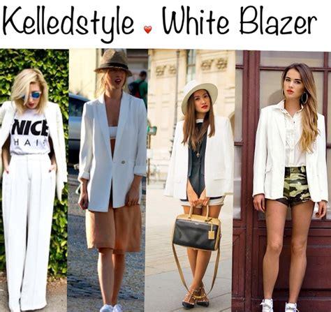 Blazer Japanese Style By Madame inspiration white blazer kelledstyle