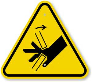 iso hand crush pinch point warning sign symbol sku is