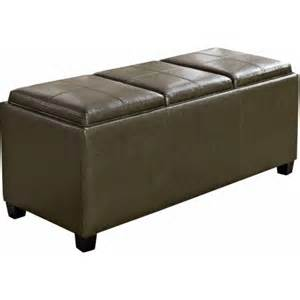 Large Serving Trays For Ottomans Max Lincoln Large Rectangular Storage Ottoman With 3 Serving Trays Walmart