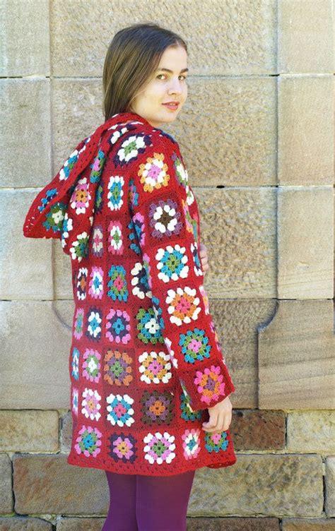 pattern coat pinterest hooded crochet granny square jacket pattern by