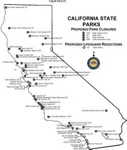 state parks california map california state parks proposed park closures