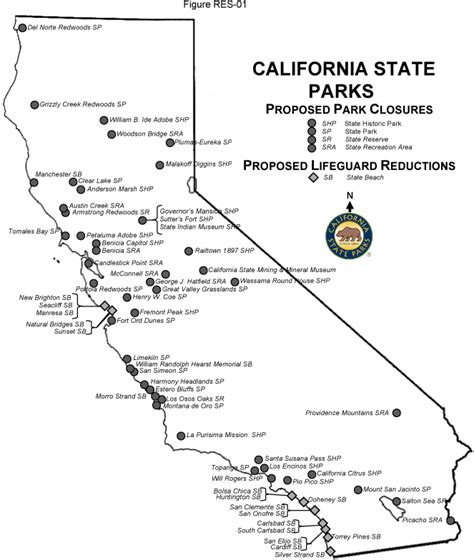 california map of national parks arnold schwarzeneggers plan