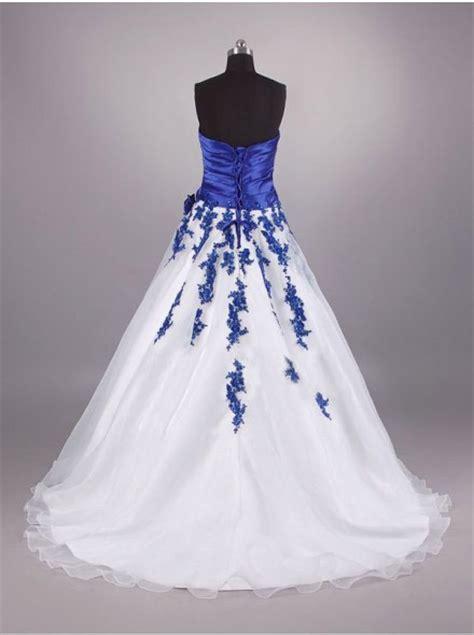 wedding dresses royal blue and white royal blue and white wedding dresses pictures ideas