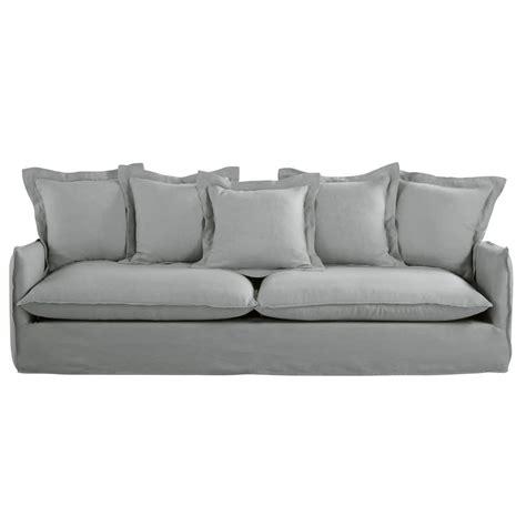 divano 5 posti divano 5 posti grigio chiaro in lino lavato barcelone