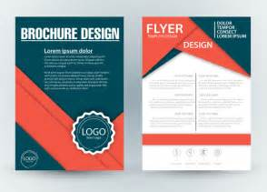 free design brochure templates brochure template design with diagonal illustration free