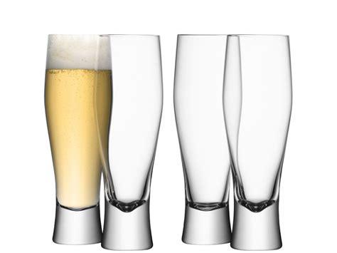 lsa bicchieri lsa international collezione bar 4 bicchieri birra lager