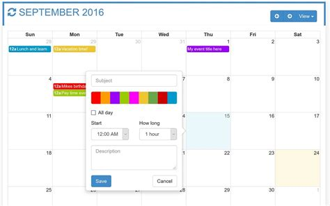 Otxfullcalendar Responsive Full Calendar For Your Needs By Omatcho Bootstrap Calendar Template