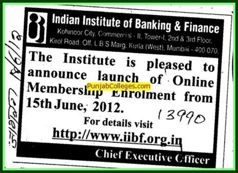 Mba From Indian Institute Of Banking And Finance by Indian Institute Of Banking And Finance Indian Institute