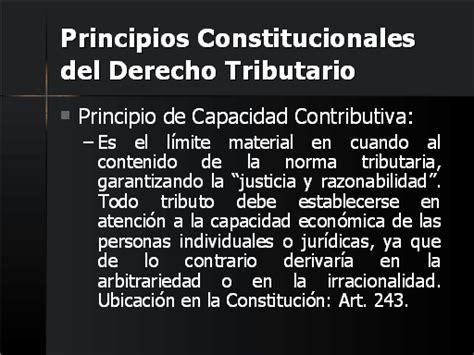 Principios Constitucionales Del Derecho Tributario En | derecho tributario monografias com