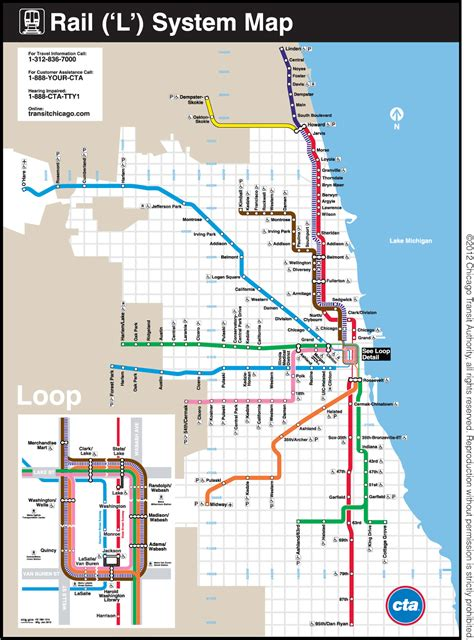 chicago map with transit chicago transit map free printable maps