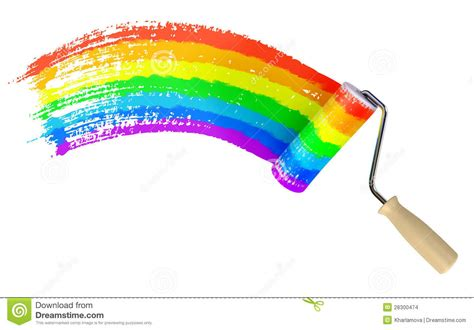 roller paint wall color of rainbow stock illustration image 28300474