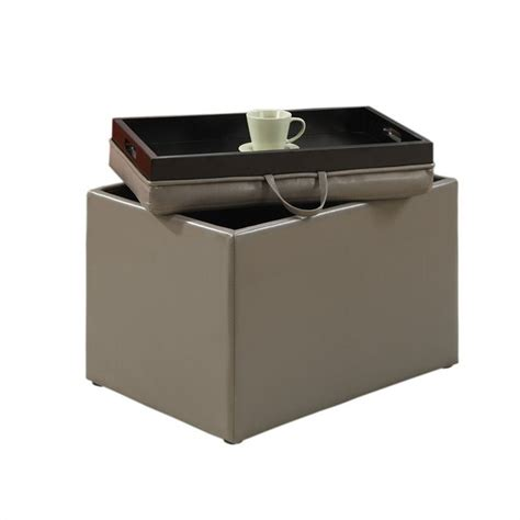 Accent Storage Ottoman Grey 143523gy Storage Ottoman Grey
