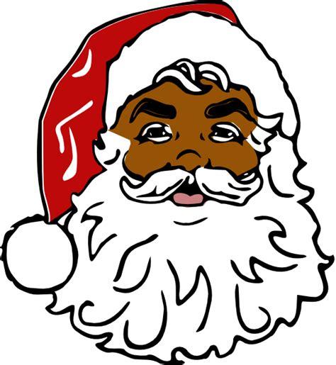 black santa claus clipart