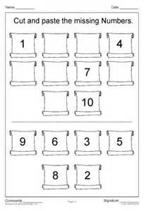 number names worksheets 187 cut and paste number worksheets