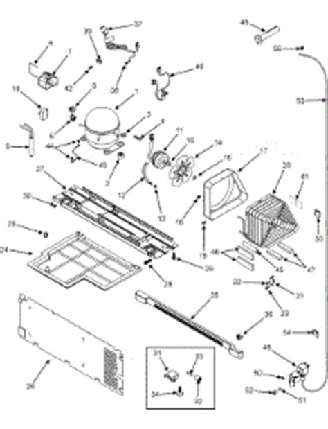 parts for admiral ltf2112arw refrigerator