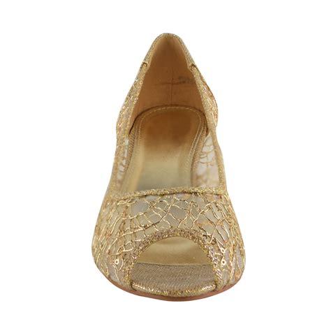 low bridal wedges womens wedge heel low diamante wedding bridal open