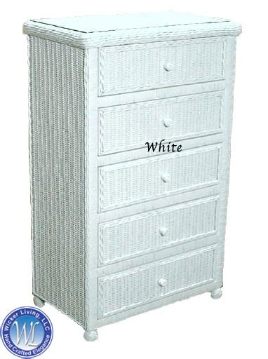 white wicker 5 drawer chest wicker chest with 5 drawers bedroom furniture
