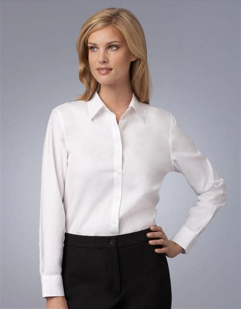 Blouse Atasan New York jones new york white easy care non iron shirt in white lyst