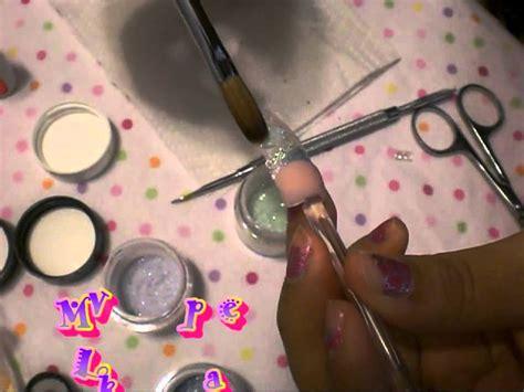 imagenes de uñas acrilicas con liston unas acrilicas diseno con liston glitter piedras youtube