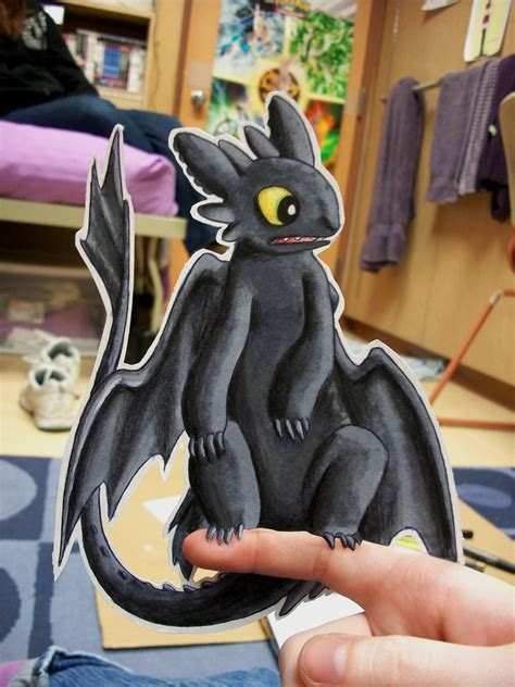 How To Make Toothless Out Of Paper - paper toothless by pettyartist on deviantart