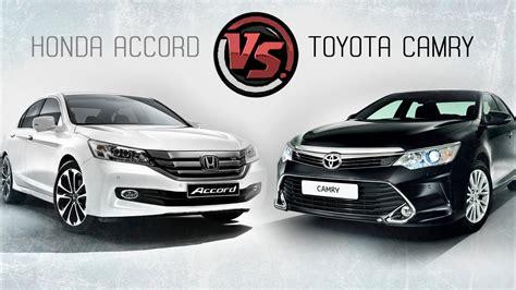 Toyota Honda by 2hp Toyota Camry Vs Honda Accord