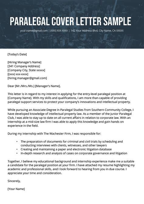 Sample Cover Letter For Judicial Clerkship Paralegal