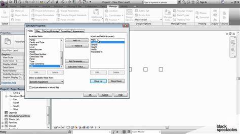 revit tutorial schedule revit tutorial adding shared parameters to a schedule