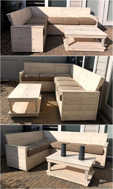 L Shaped Pallet by Wood Pallet Made L Shape Sofa Plan Wood Pallet Furniture