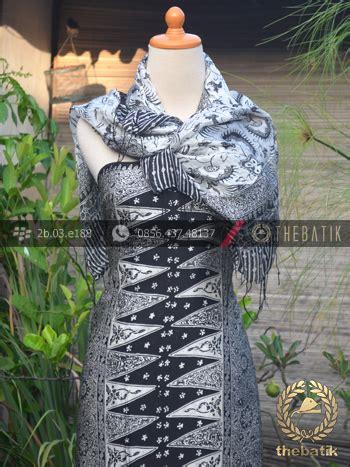 Bawahan Kebaya Endek Lasem Tumpal jual sarung selendang batik sutera motif tumpal putih